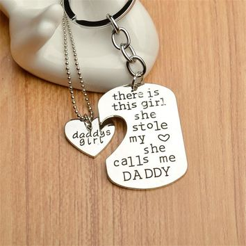 Daddy Daughter Wonderful Heart Necklace