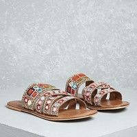 MIA Beaded Strappy Slides
