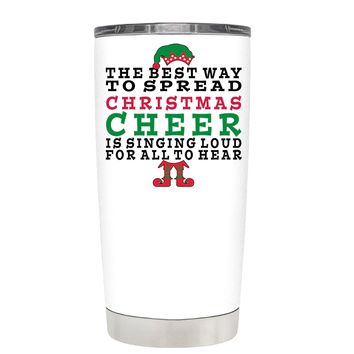TREK The Best Way to Spread Christmas Cheer on White 20 oz Tumbler Cup