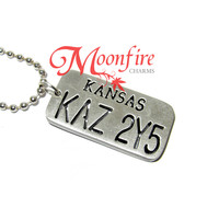 SUPERNATURAL KAZ 2Y5 License Plate Dog Tag Necklace