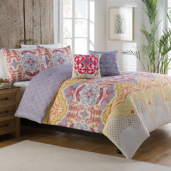 Milo Floral 5-piece Comforter Set | Overstock.com Shopping - The Best Deals on Teen Comforter Sets