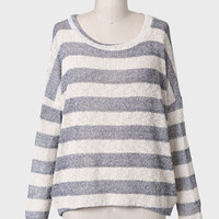 Melanie Metallic Detail Striped Sweater