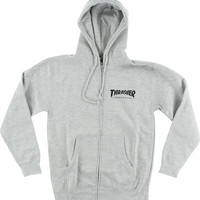 Thrasher Skate Mag Zip Hoodie Small Heather Grey