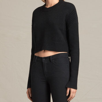 ALLSAINTS CA: Womens Haisey Alpha Sweater (black)