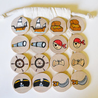 Memory Game, A Pirate's Life, Waldorf toy, Game