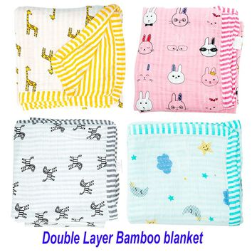 Muslin Tree Swaddle 2 layers Bamboo Cotton Baby Muslin Blanket Infant Wrap Baby  Bamboo Blanket