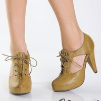 Lace Up High Heels - $35