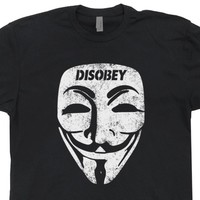 Guy Fawkes Mask T Shirt V For Vendetta T Shirt Haker T Shirt Guy Fawkes