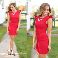 Relying On Ruffles Dress in Red - Ya Los Angeles