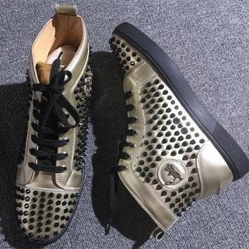 Cl Christian Louboutin Louis Spikes Style #1893 Sneakers Fashion Shoes
