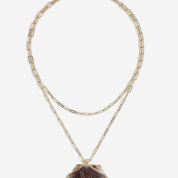 **Real Shell Multirow Necklace | Topshop