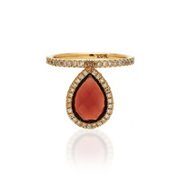 M'O Exclusive Medium Red Garnet Flip Ring | Moda Operandi