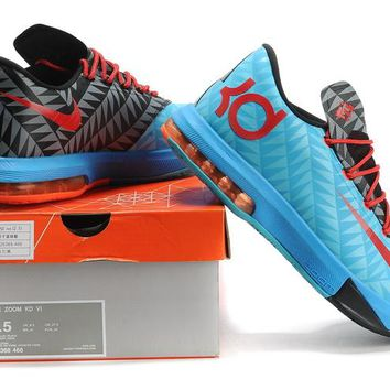 "Nike Zoom KD 6  Kevin Durant  Ⅵ ""Moon Orchid Black""   Basketball Shoes"