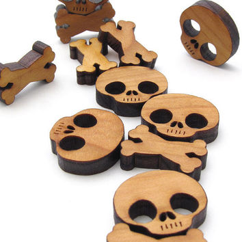 Mini Skull and Cross Bones Charms by TimberGreenWoods