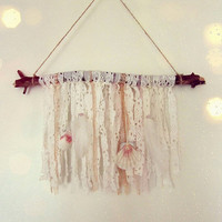 Bohemian Wall Hanging - Boho Driftwood Wall Decor - Gypsy Bedroom Decor - Dream Altar - Bohemian Nursery - In Stock