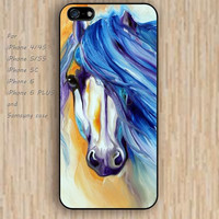 iPhone 5s 6 case cartoon watercolor horse Dream colorful phone case iphone case,ipod case,samsung galaxy case available plastic rubber case waterproof B480