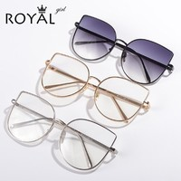 Designer Women eyeglasses frames Vintage retro oversized metal clear lens glasses ss716