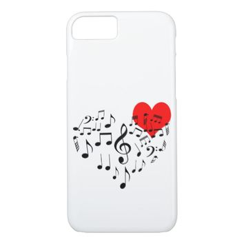 Singing Heart one-of-a-kind iPhone 7 Case