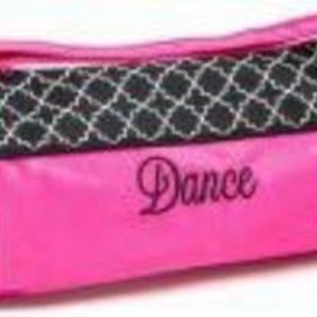 Dance Bag - Stylish Lattice Design and Bubble Dots, embroidered Dance