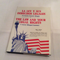 The Law and Your Legal Rights Vintage Book Spanish English Law Lawyer Justice Court