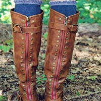 Paint The Town Red Chestnut Riding Boot