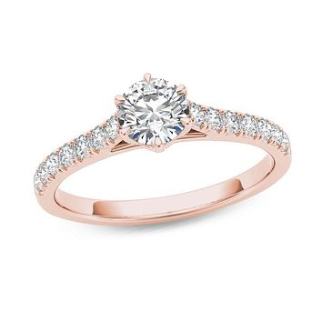 3/4 CT. T.W. Diamond Engagement Ring in 14K Rose Gold
