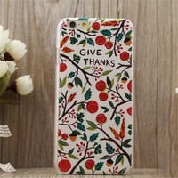Retro Small Fruit Case Cover for iPhone 5s 6 6s Plus