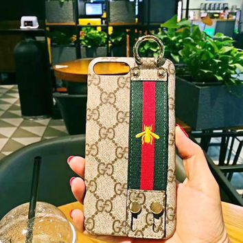 GUCCI Embroidery Bee Print iPhone Phone Cover Case For iphone 6 6s 6plus 6s-plus 7 7plus