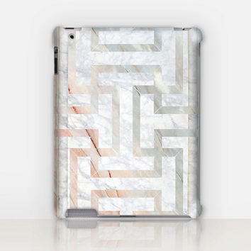 Art-deco marble iPad Case For - iPad 2, iPad 3, iPad 4 and iPad Mini, Fine Art Hard Case