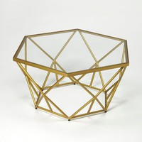 Alondra Modern Hexagonal Cocktail Table Gold
