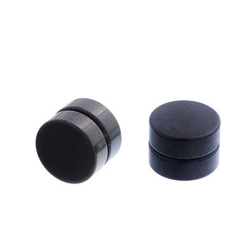 1Pair Non Piercing Clip On Round Magnetic Ear Stud Mens Women popular Earrings