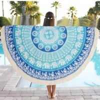 Mandala Beach/Yoga Blanket