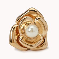 Faux Pearl Flower Studs | FOREVER 21 - 1002246343