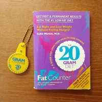 The 20 Gram Diet booklet with dial fat counter keychain, Dr. Gabe Mirkin