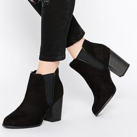 New Look Wide Fit Heeled Snake Effect Chelsea Boot