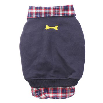 Dog Cat Jackets Grid Sweater Puppy Warm Coat T-Shirt Pet Clothes POLO Shirt Dog Apparel Clothes