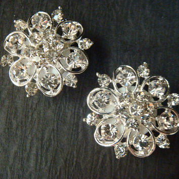 Vintage style wedding rhinestone ear plugs or stud earrings / 4-16mm / rhinestone wedding studs wedding plugs / rhinestone gauges