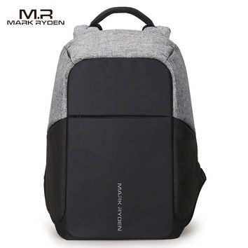 Multifunction USB Charging Men's 15 inch Laptop Backpack Anti Theft