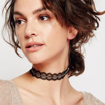 Free People Stoned Lace Choker