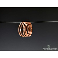 Set of 5 Super Thin Copper Stackable Rings