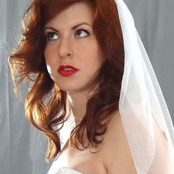 English Net Wedding Veil