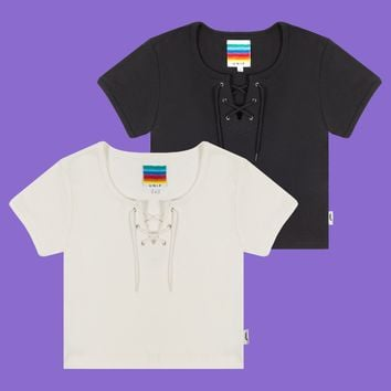 Lace Up Baby Tee Two-Pack