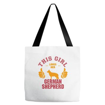 This Girl Loves Her German Shepherd Tote Bags