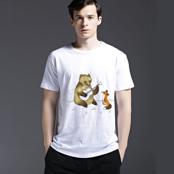 Summer Fashion Casual Cute Pattern Cotton Creative Stylish Lovely Men's Fashion Animal Tee Short Sleeve T-shirts = 6450993923