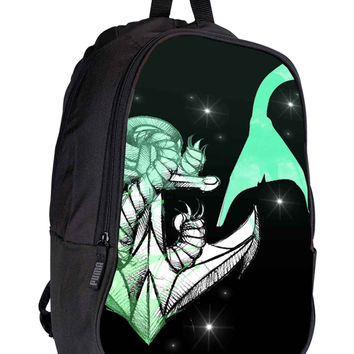 Mermaids Anchor f5e4d20a-beda-4f8e-9f5d-3cc275d548b0 for Backpack / Custom Bag / School Bag / Children Bag / Custom School Bag *02*