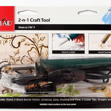Plaid 30725 2-in-1 Craft Tool Cutter/Burner for Crafting