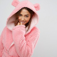 ASOS Fluffy Cloud Robe with Ears at asos.com