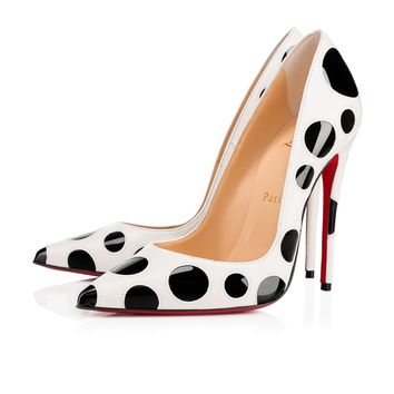 Christian Louboutin Cl So Kate Bubble Latte/black Leather 18s Pumps 1181129h195 - Best Online Sale