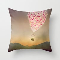 NEVER STOP EXPLORING V Throw Pillow by Monika Strigel