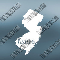 New Jersey Home Decal | New Jersey State Decal | Homestate Decals | Native Sticker | Love Decal  | Car Truck Decal | Car Sticker | 541